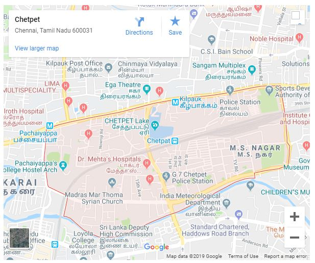 Orange Ray - Chetpet Map