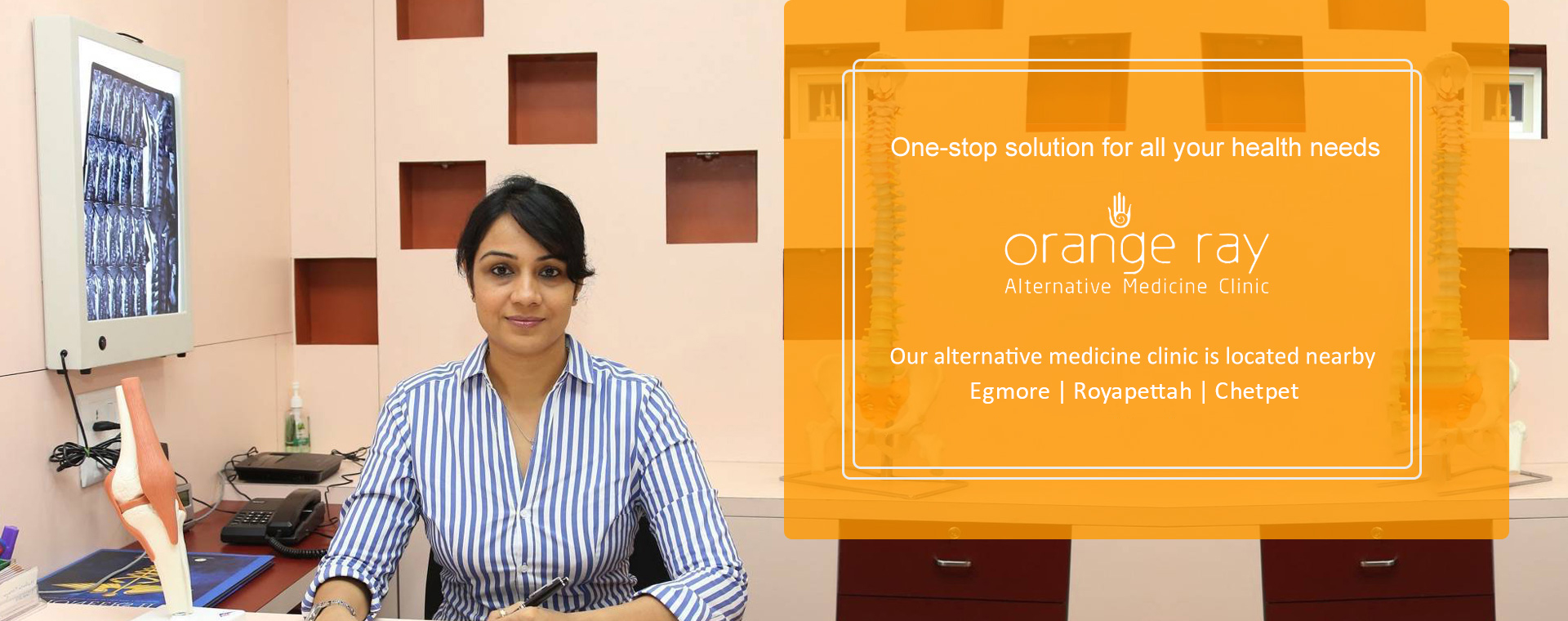 Orange Ray alternative medicine clinic in Egmore