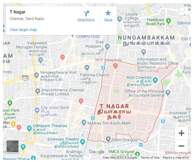 T Nagar Map